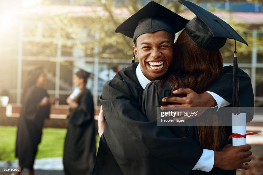 Für immer zusammen in Liebe und Bildung : Stock-Foto
