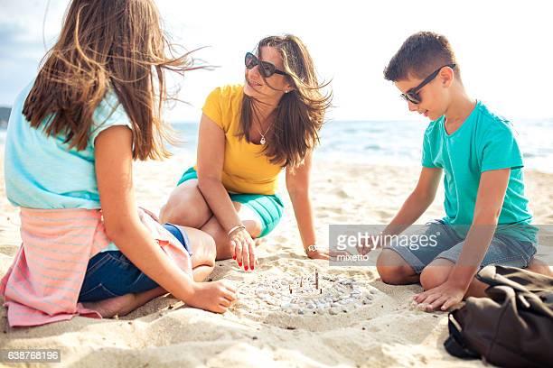 Zusammen am Strand