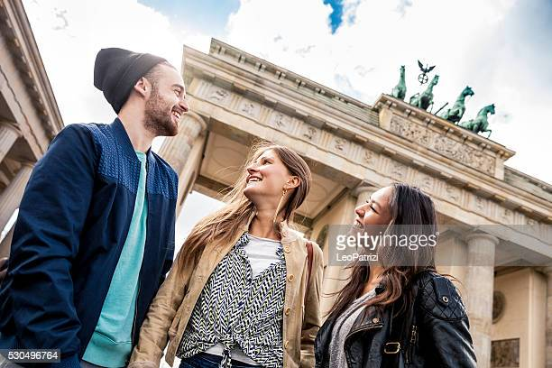 Together on travel in Berlin - Brandenburg Gate