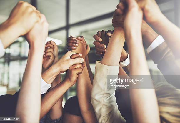 together we can do anything - winnen stockfoto's en -beelden