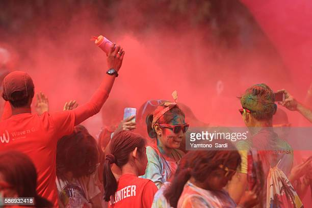 Togetherness in color run Jakarta