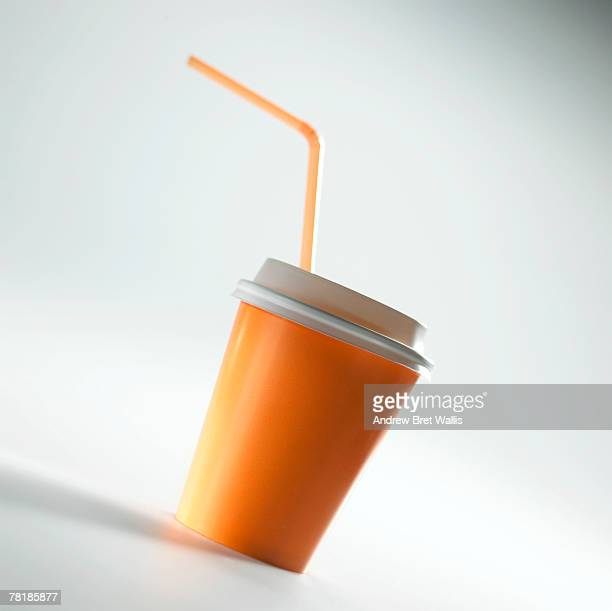 To-go cup with straw