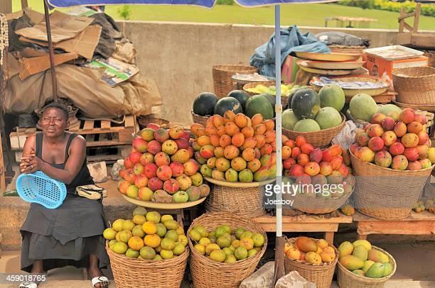 Togo Woman Sidewalk Vendor