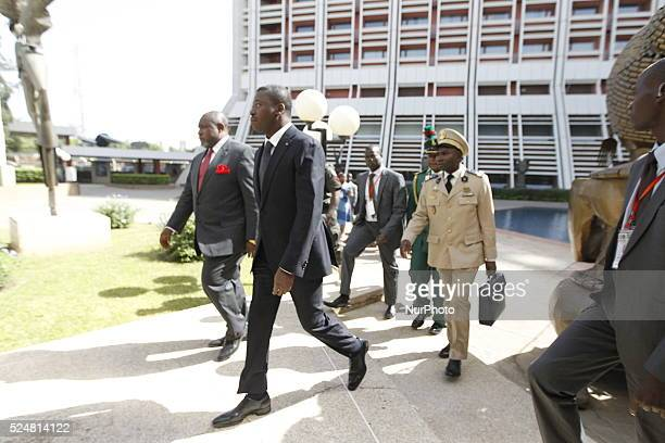 Togolese president Faure Gnassingb�� arrives abuja for the 48th Ecowas extraordinary meeting of heads of states and Government in Abuja Nigeria 16...