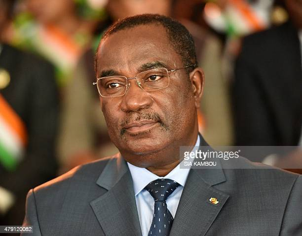 Togolese Prime minister Komi Selom Klassou attends the launching ceremony of the West African Energy Leaders Group on June 30 2015 in Abidjan Ivorian...