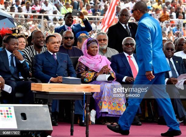 Togo's President Faure Gnassingbe Congo's President Denis Sassou Nguesso Ghana's former Presidents John Dramani Mahama and Jerry Rawlings...