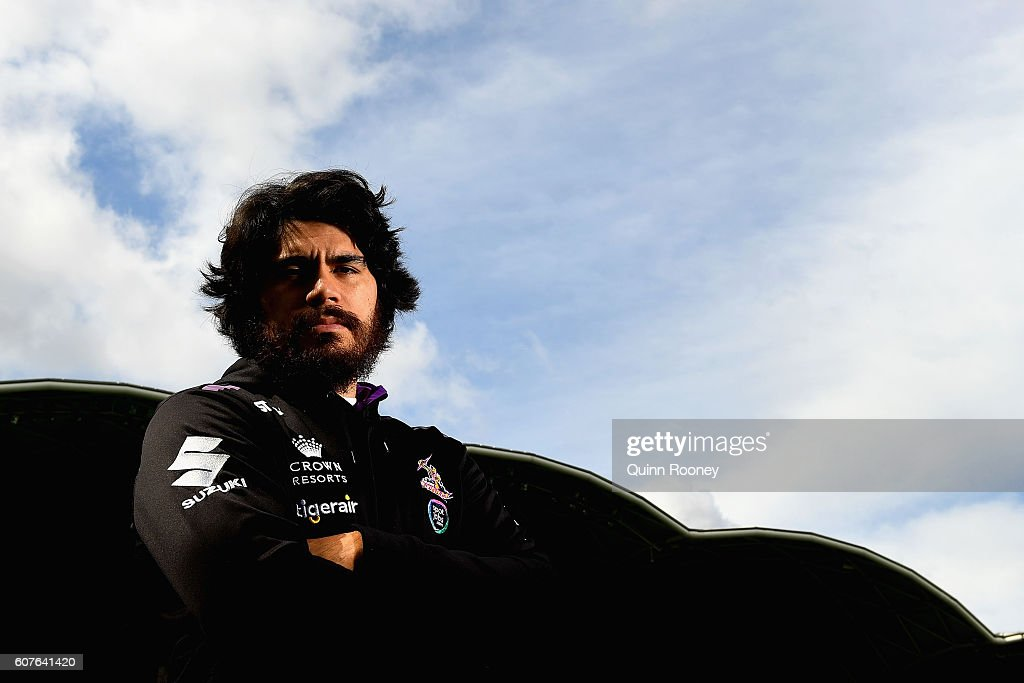 Tohu Harris of the Storm poses during a Melbourne Storm NRL Media Opportunity at AAMI Park on September 19, 2016 in Melbourne, Australia.