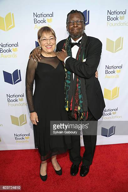 Toi Derricotte and Cornelius Eady attend The 67th National Book Awards Ceremony Benefit Dinner at Cipriani Wall Street on November 16 2016 in New...
