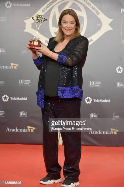 Toñi Moreno attends 'Iris Academia de Television' awards at Nuevo Teatro Alcala on November 18 2019 in Madrid Spain