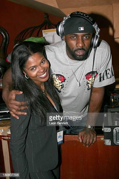 Toi Troutman DJ Idris Elba during Antonio Tarver Presents MGM's Rocky Balboa Premiere Release KickOff Bash at The Garden of Eden in Los Angeles...