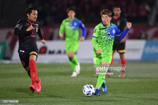 Toichi Suzuki of Shonan Bellmare in action during the J.League MEIJI YASUDA J1 match between Shonan Bellmare and Urawa Red Diamonds at the Shonan BMW...