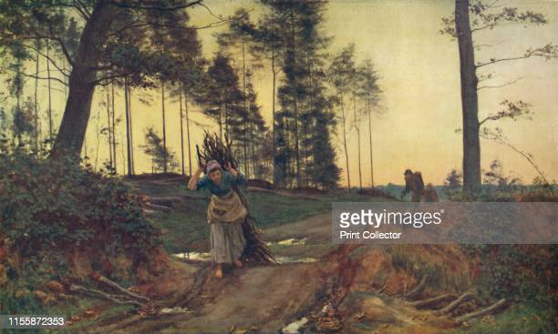 Toilers of the Woods' 1879 Barefoot woman carrying firewood From Modern Art Monographs Artist Sir Ernest Albert Waterlow