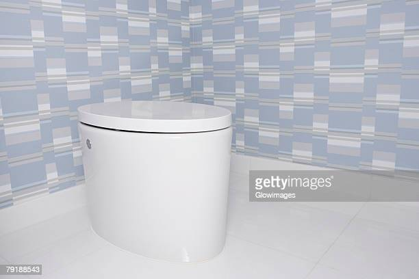 Toilet bowl in the bathroom