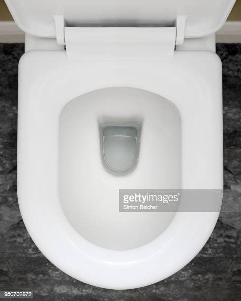 toilet bowl - toilet bowl stock photos and pictures