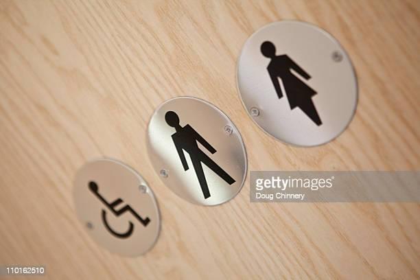 Toilet door signs