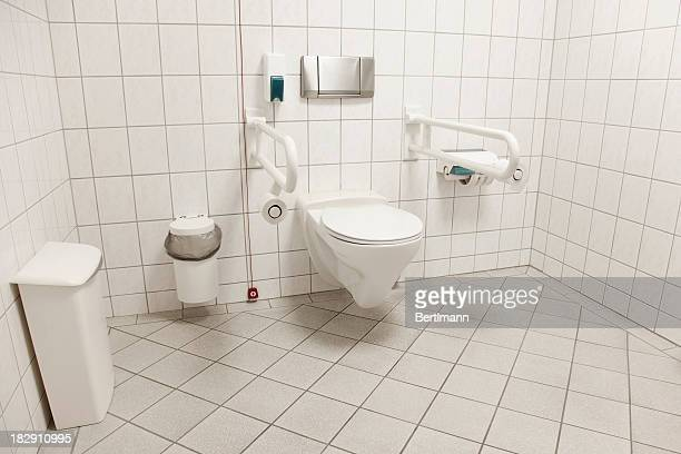toilet for people with disabilities - disabled access stock photos and pictures