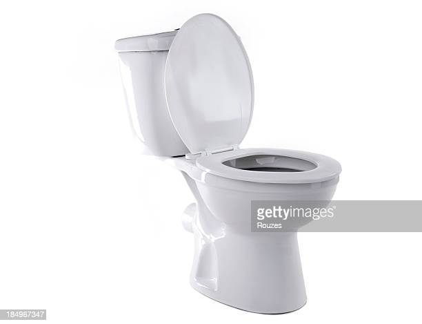 toilet isolated - toilet stockfoto's en -beelden