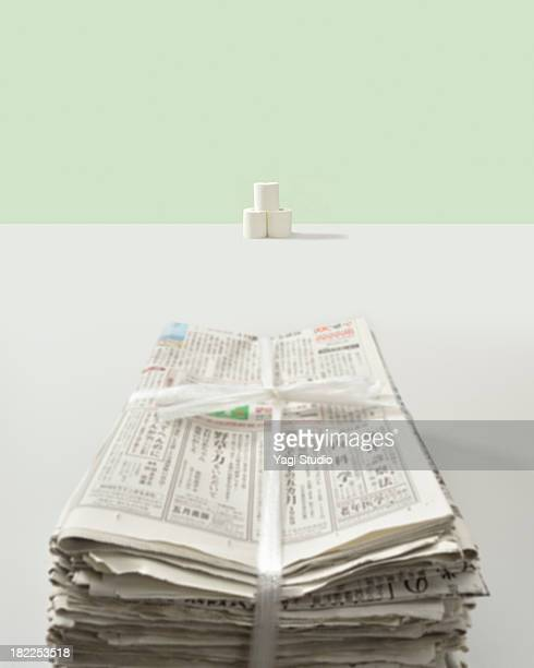 Toilet paper and newspaper