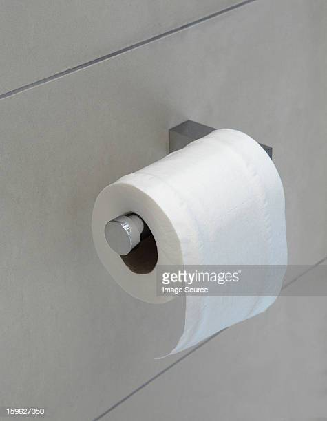 Toilet roll on holder
