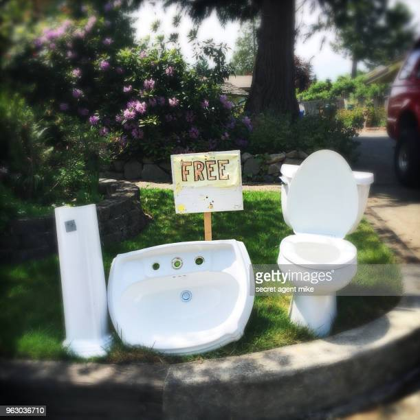 toilet sale - free of charge stock photos and pictures