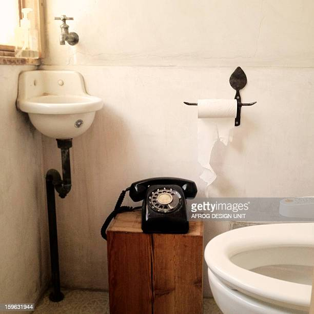 Toilet & telephone