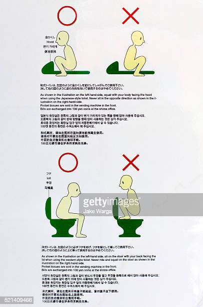 toilet user instruction, western and eastern - jake warga stock pictures, royalty-free photos & images