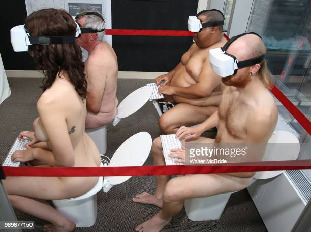 Toilet World Performance Artists during The Chashama Gala at 4 Times Square on June 7 2018 in New York City