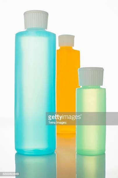 Toiletries in bottles