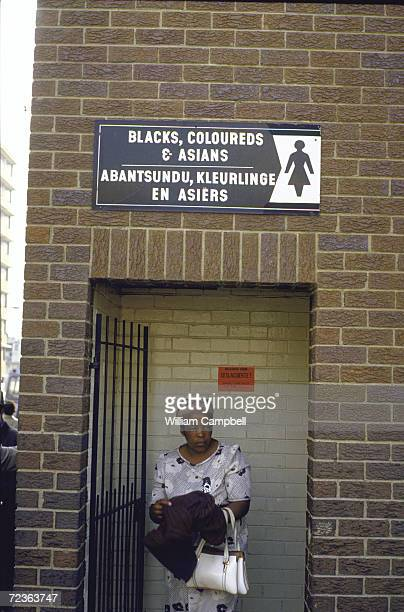 Toilets restricted to use by 'Black Coloreds Asians' at a bus station