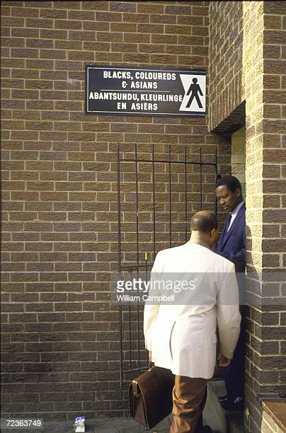 Toilets restricted to use by Black Coloreds Asians at a bus station