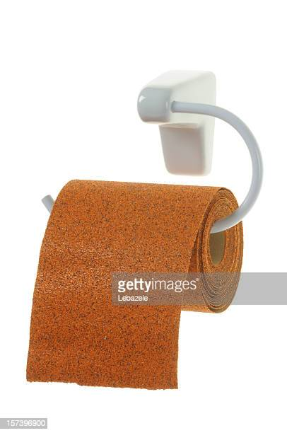 Toilet-Sandpaper (clipping path)