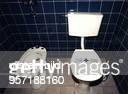 """Toilette und Bidet in der Suite von Erich Honecker im ehemaligen """"Gästehaus des Ministerrates der DDR"""" in Leipzig, jetzt """"Gästehaus am Park"""" - 1995"""