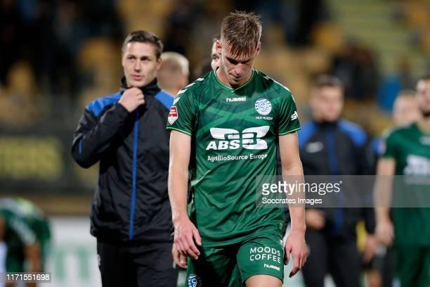 Toine van Huizen of De Graafschap during the Dutch Keuken Kampioen Divisie match between Roda JC v De Graafschap at the Parkstad Limburg Stadium on...