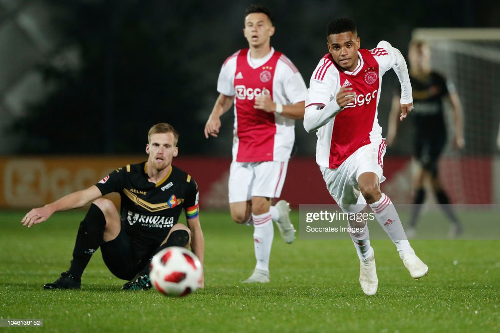 Toine van huizen of telstar danilo pereira of ajax u23 during the