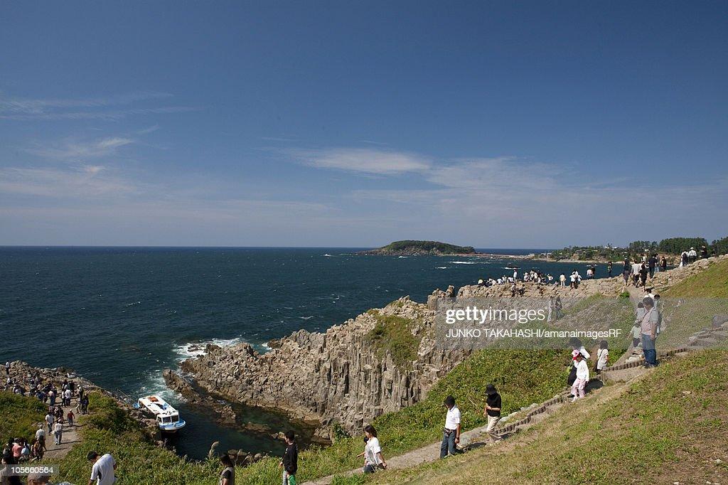 Tojinbo Cliffs : Foto de stock