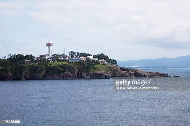 tojinbo,  fukui prefecture, honshu, japan - fukui prefecture stock photos and pictures