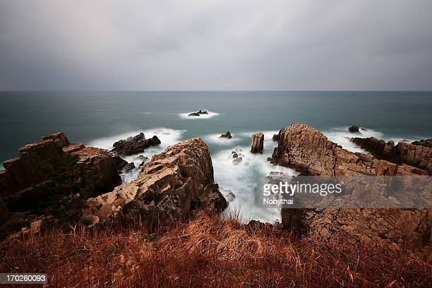 tojinbo - fukui prefecture stock photos and pictures