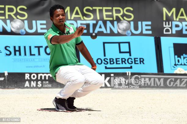Tojolalaina Herizo Rahasintsoa competes during the Masters of Petanque 2017 on July 13 2017 in RomanssurIsere France