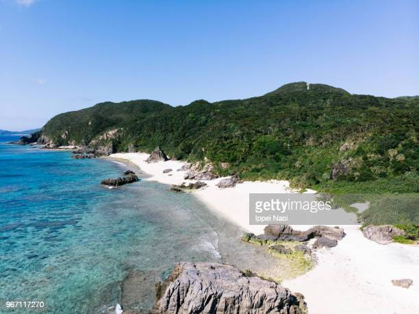 Tokashiki Island of Kerama Islands National Park from above, Japan