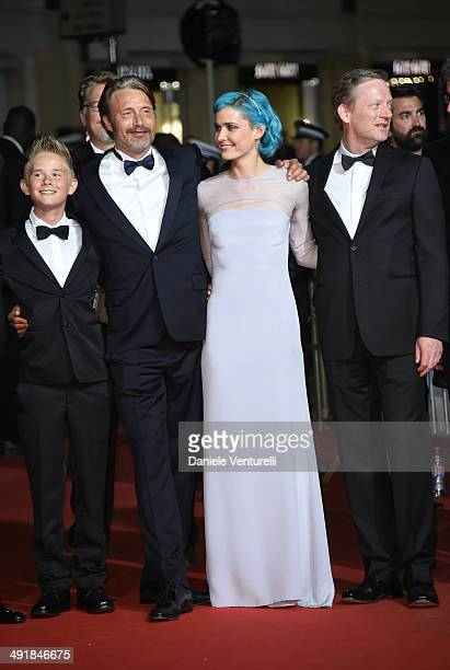 Toke Lars Bjarke Mads Mikkelsen Nanna Oland Fabricius and Douglas Henshall attend the The Salvation Premiere at the 67th Annual Cannes Film Festival...