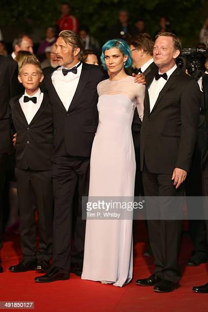 Toke Lars Bjarke Mads Mikkelsen Nanna Oland Fabricius and Douglas Henshall attend the The Salvation premiere during the 67th Annual Cannes Film...