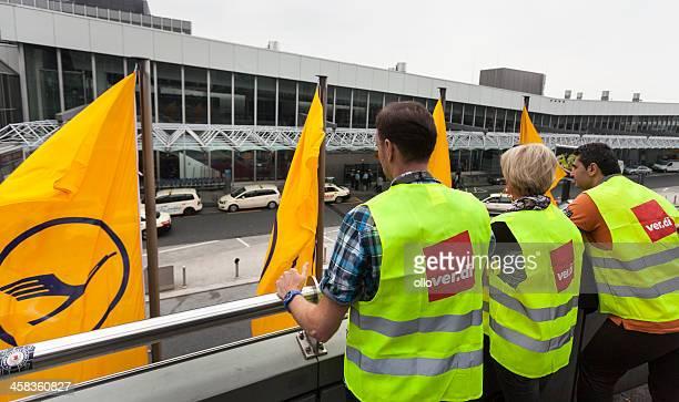 Token strike of Lufthansa ground staff, Frankfurt Airport