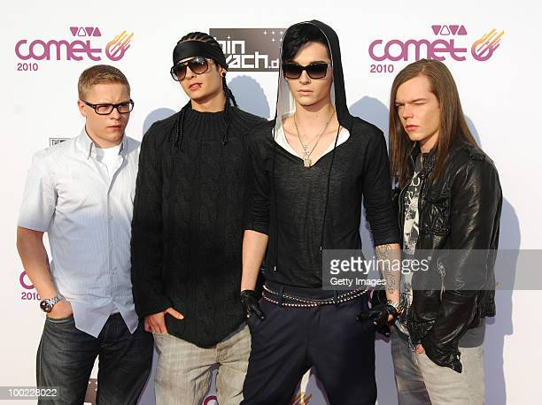 Tokio Hotel attend the VIVA Comet 2010 Awards at KoenigPilsenerArena on May 21 2010 in Oberhausen Germany