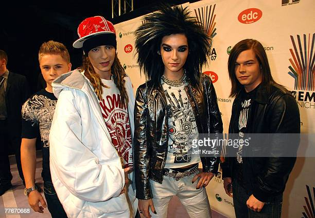 Tokio Hotel attends the 2007 MTV Europe Music Awards held at the Olympiahalle on November 1 2007 in Munich Germany