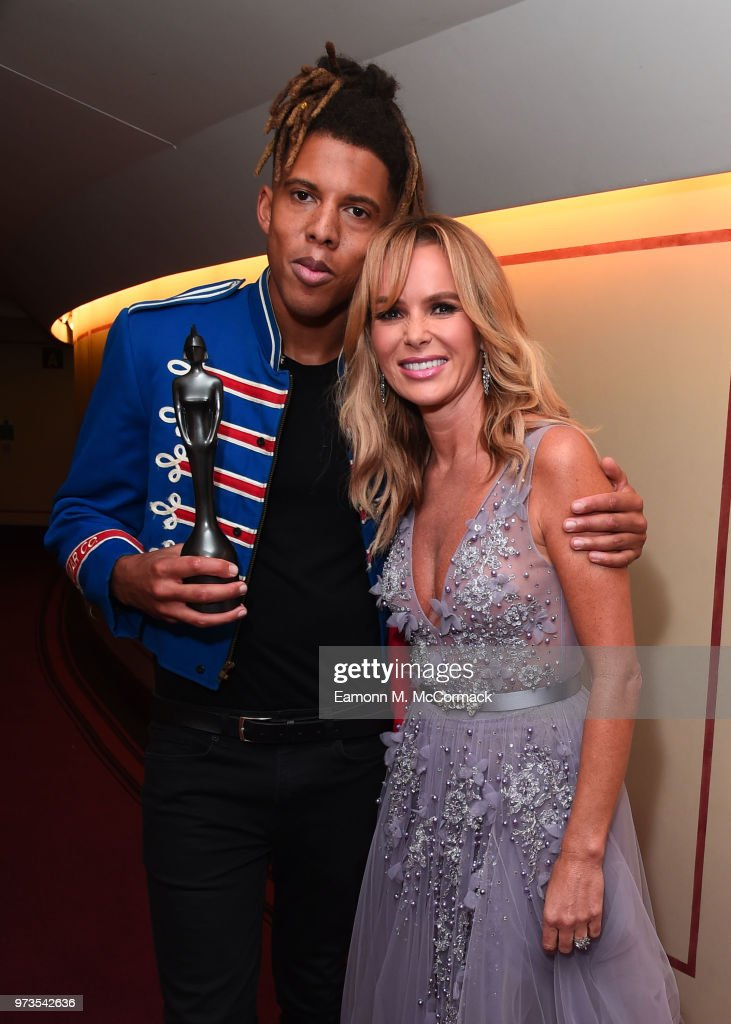 Tokio Myers and Amanda Holden backstage at the 2018 Classic BRIT Awards held at Royal Albert Hall on June 13, 2018 in London, England.