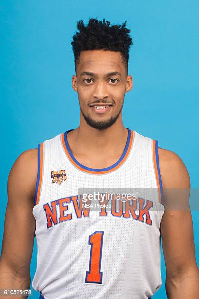 P Tokoto of the New York Knicks poses for a head shot during media day at the Ritz Carlton in White Plains New York on September 26 2016 NOTE TO USER...