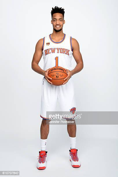 P Tokoto of the New York Knicks poses for a portrait during media day at the Ritz Carlton in White Plains New York on September 26 2016 NOTE TO USER...