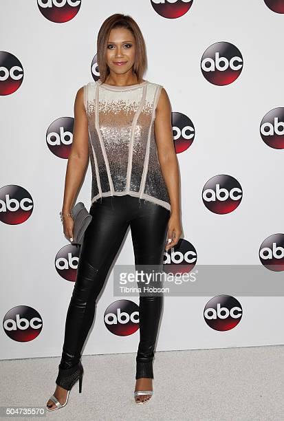 Toks Olagundoye attends the Disney/ABC 2016 Winter TCA Tour at Langham Hotel on January 9, 2016 in Pasadena, California.