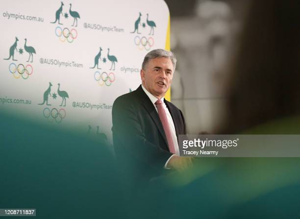 Tokyo 2020 Australian Chef de Mission Ian Chesterman during the Australian 2020 Olympic Games Artistic Swimming Team Announcement at the AIS on...
