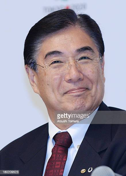Tokyo 2020 CEO Masato Mizuno smiles during Tokyo 2020 Bid Committee's press conference upon returning back from Buenos Aires at the Tokyo...